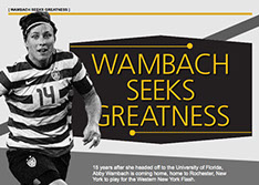 Slide show of Azula Brown's work for GotSoccer's online interactive football magazine